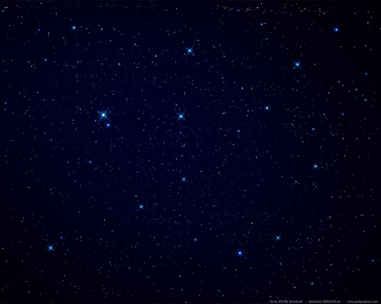 Night sky stars background PSDGraphics 1280x1024