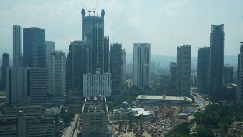 Time lapse video about cityscape of Kuala Lumpur city with background 852x480