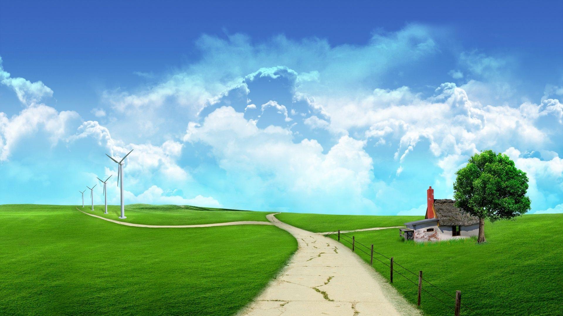3D Landscape Wallpaper - WallpaperSafari