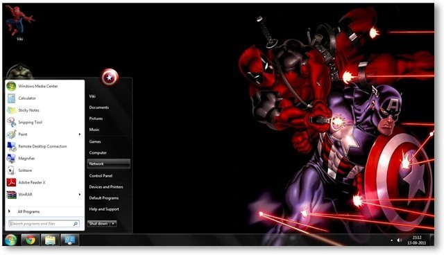Windows 7 Themes Marvel Comics Theme for Windows [Comics Themes] 640x368