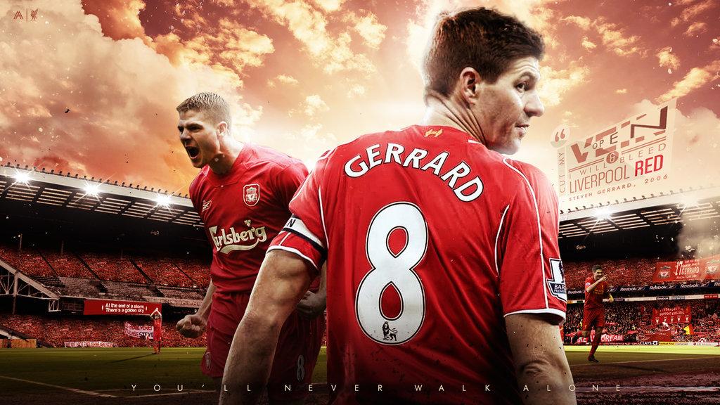 Steven Gerrard 2015 Wallpaper by AlbertGFX 1024x576