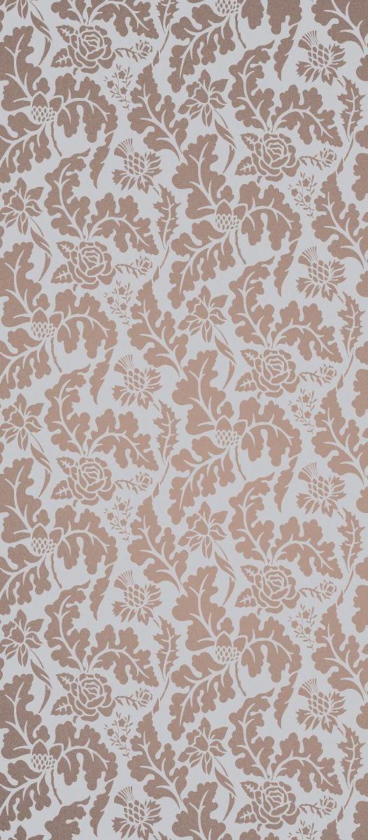 British Isles Damask Wallpaper in Brown from the Manarola 526x1200