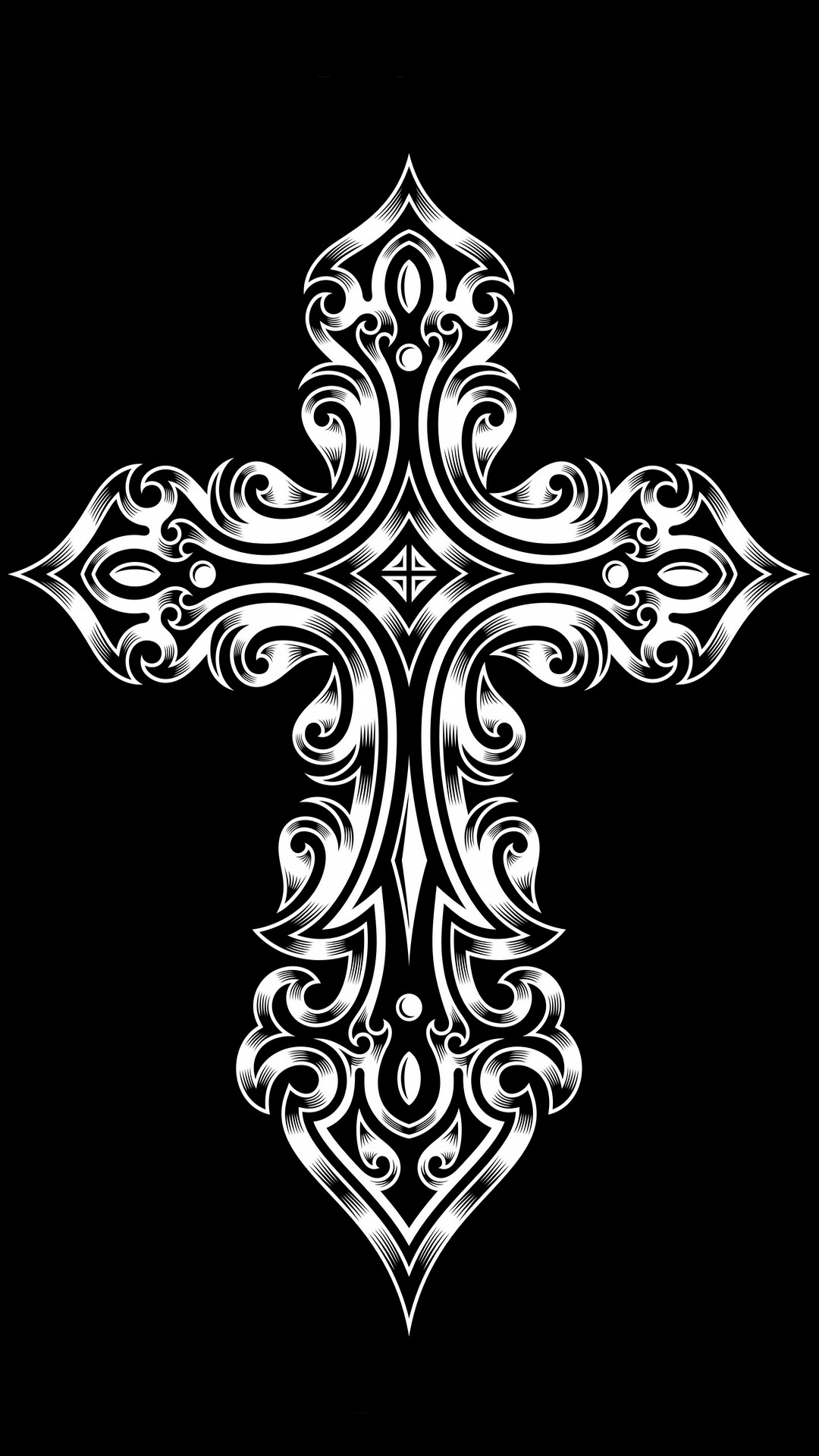 tribal cross   high resolution wallpapers for iPhone 6 Plus 1080x1920