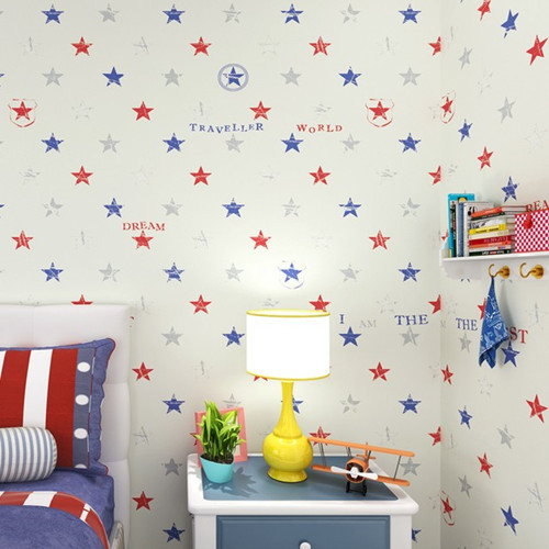 .com : Buy Classic Star Boys Bedroom Wallpaper zk06 Baby Boy Room ...