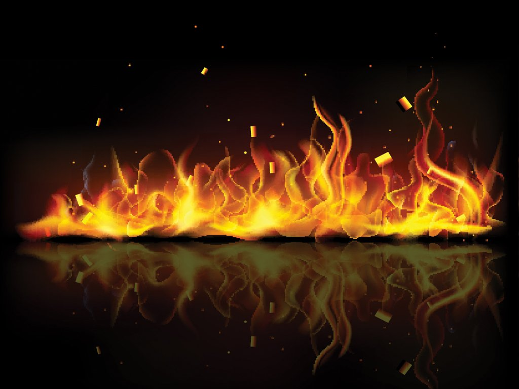 Fiery Orange Flames Backgrounds For PowerPoint   Abstract and 1024x768