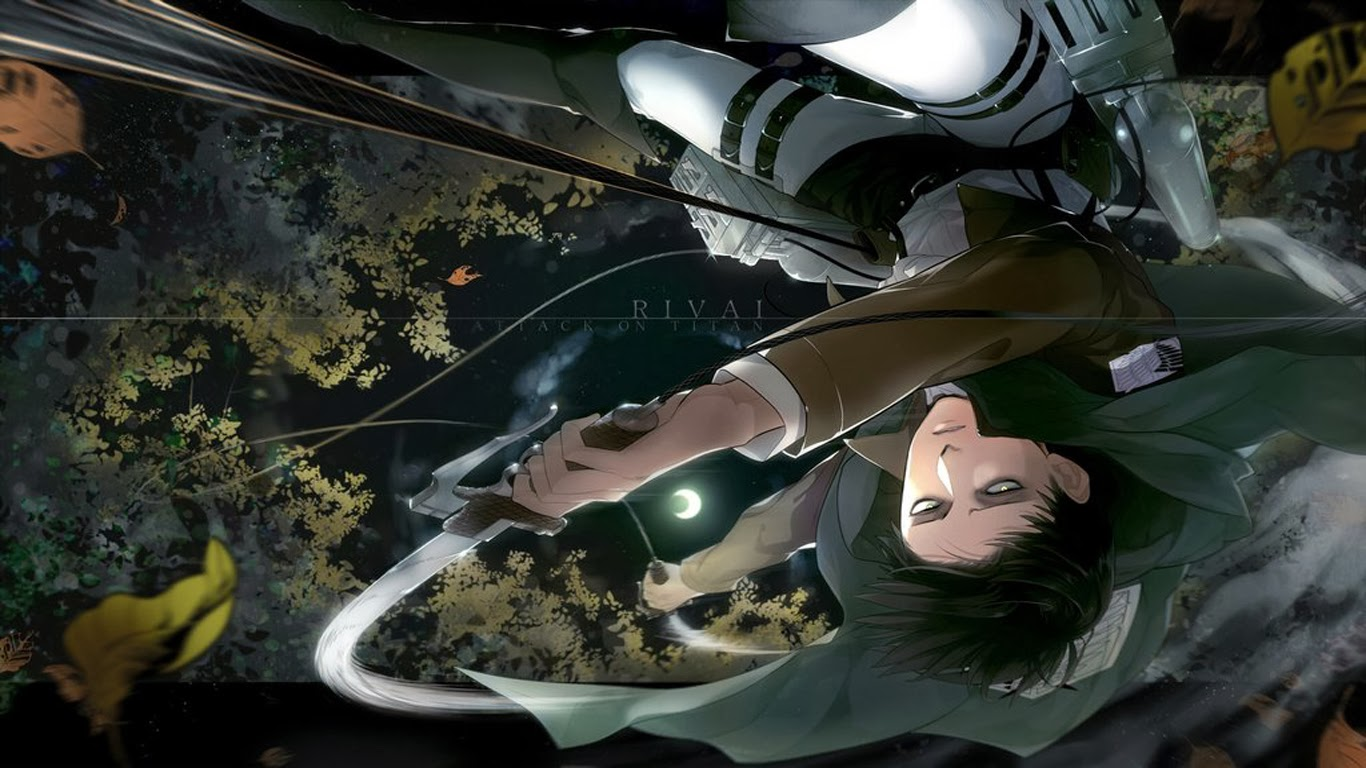 captain levi attack on titan shingeki no kyojin anime hd wallpaper 1366x768