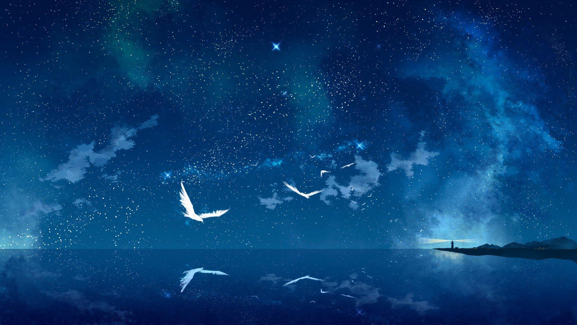 Gallery For gt Night Sky Wallpaper 1920x1080