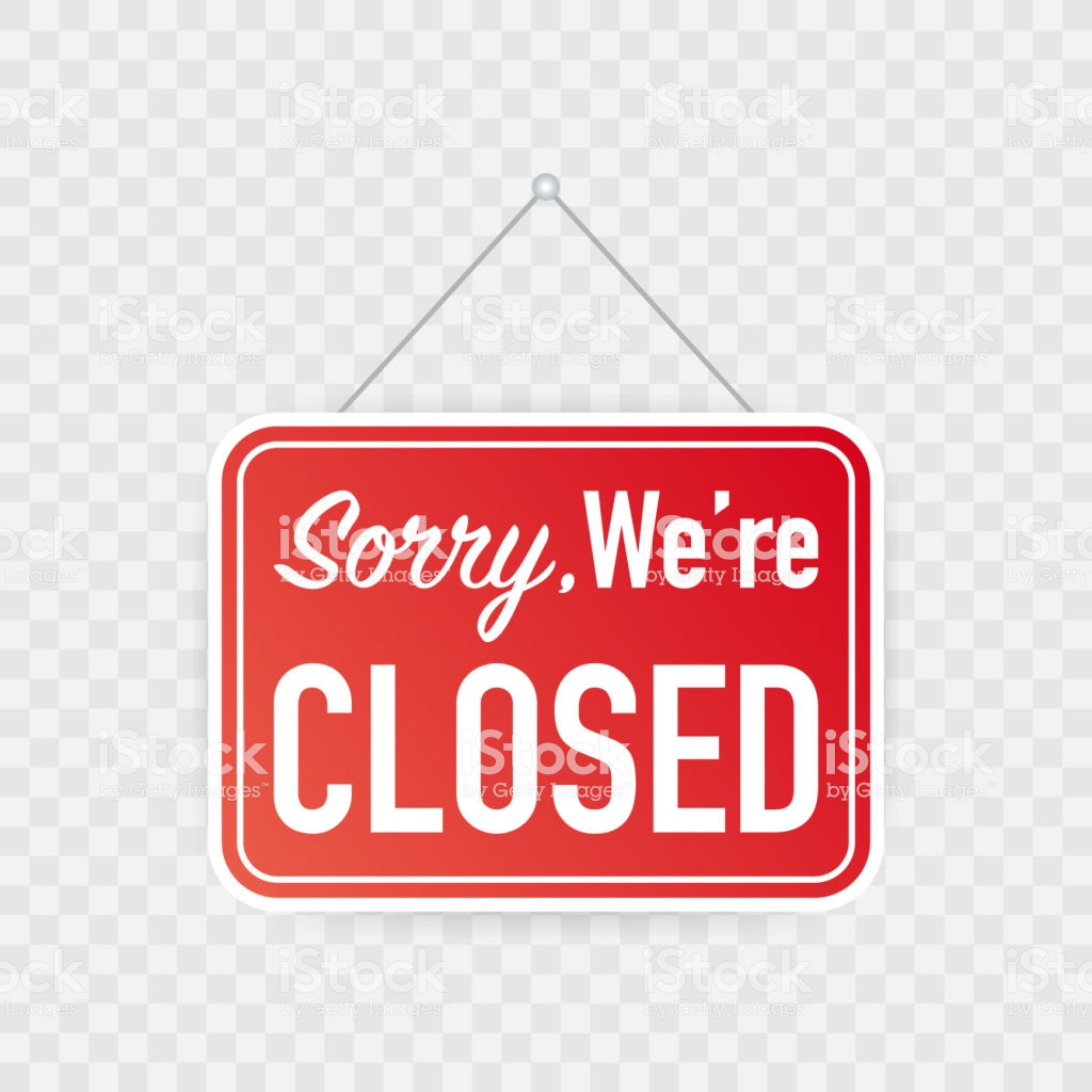 Sorry Were Closed Hanging Sign On White Background Sign For Door 1024x1024