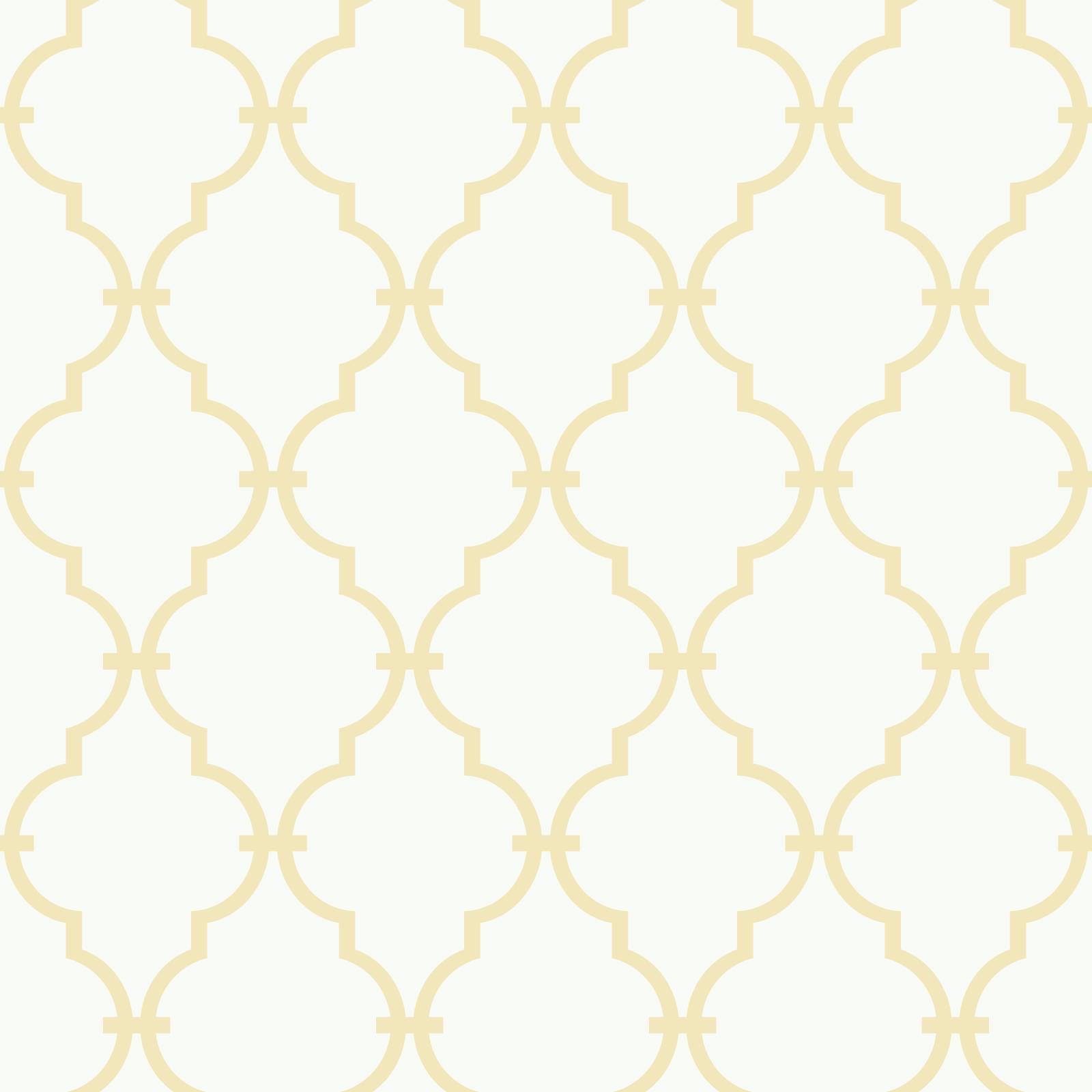 Orange Yellow Modern Baby Trellis Wallpaper in White Yellow 1600x1600