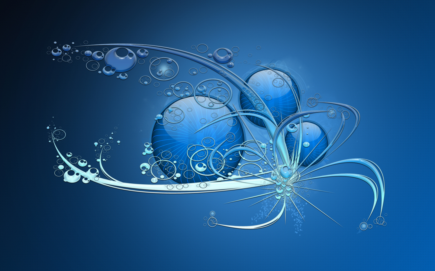Free Download Blue Abstract Widescreen Hd Wallpaper Blue