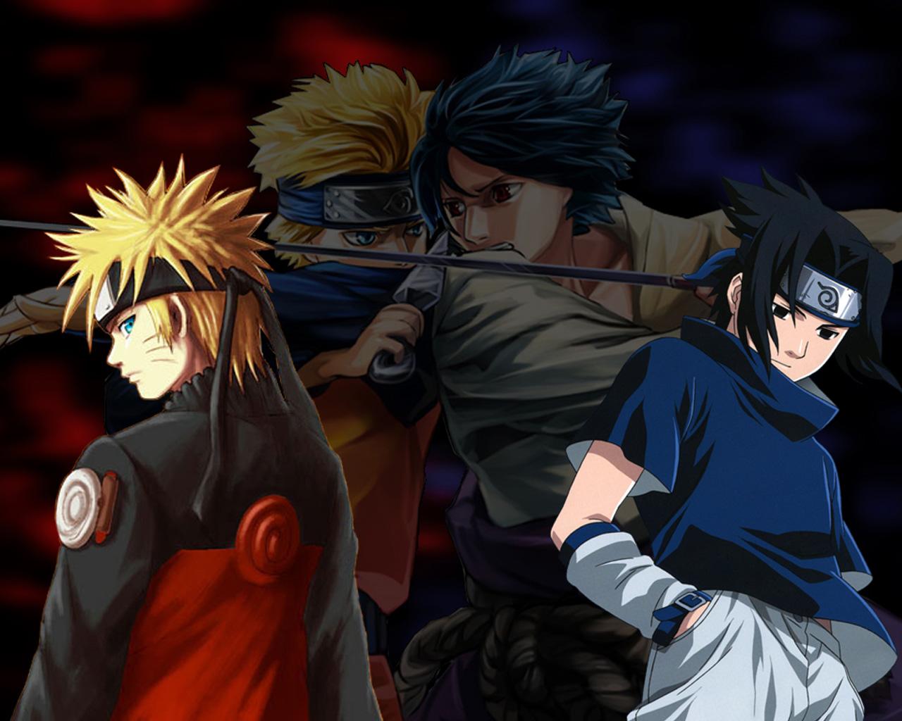 Gallery For gt Sasuke Vs Naruto Wallpaper 1280x1024