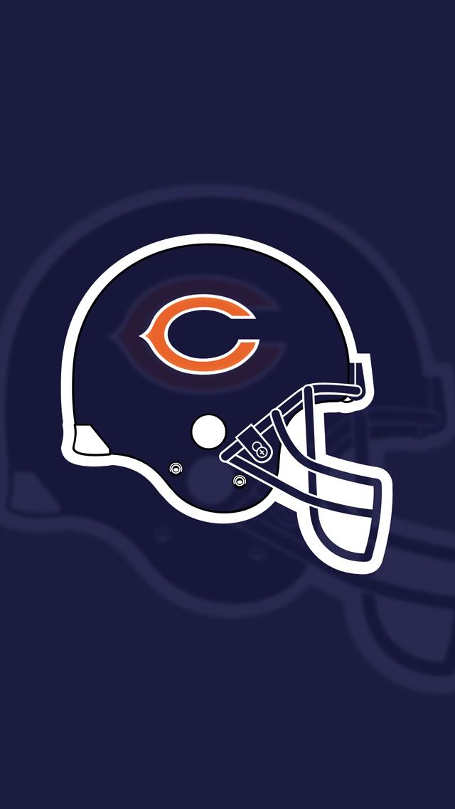 Chicago Bears Wallpaper Hd Iphone Chicago bears flat helmet 640x1136