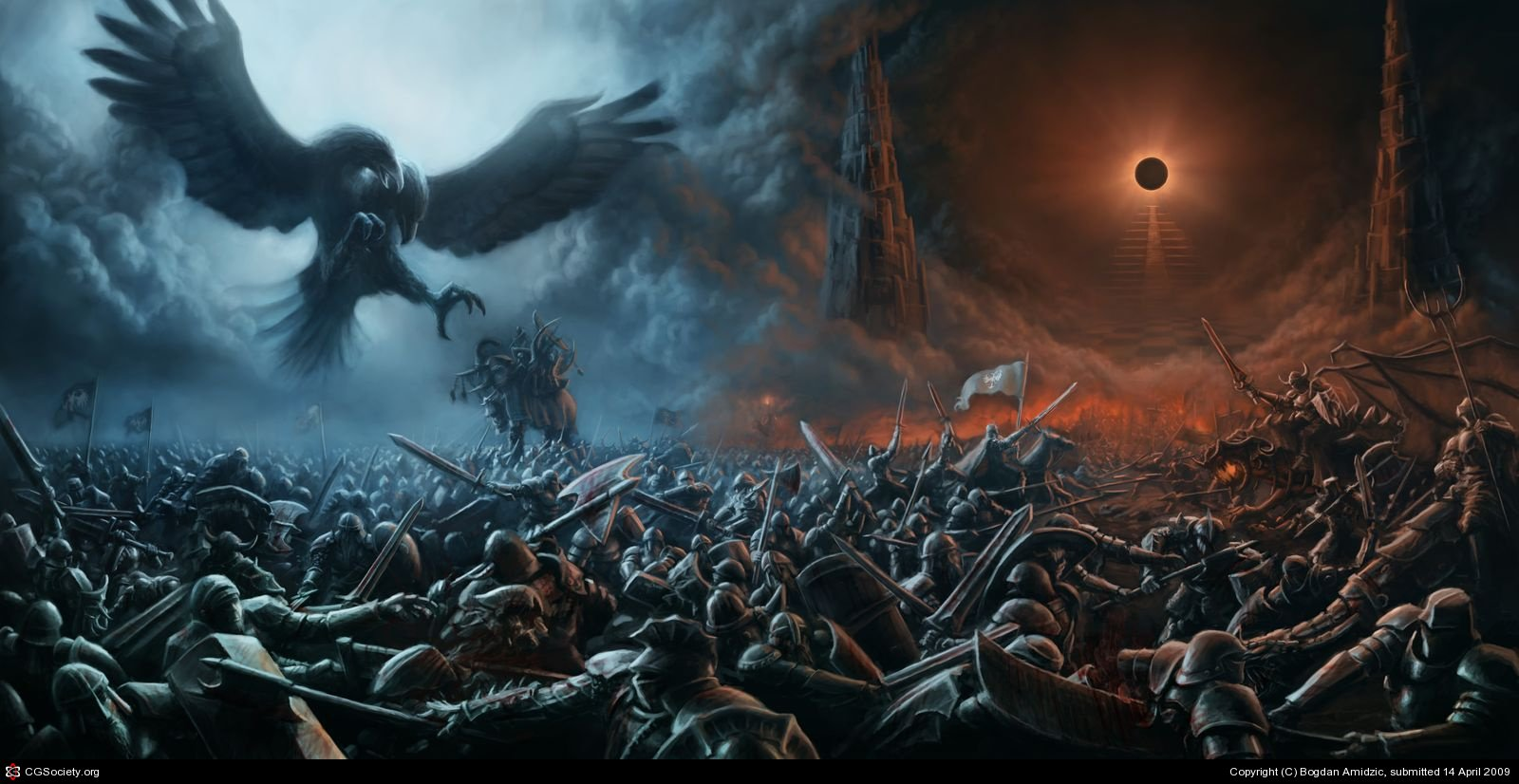 Epic Battle Background An epic battle scene thats 1600x826