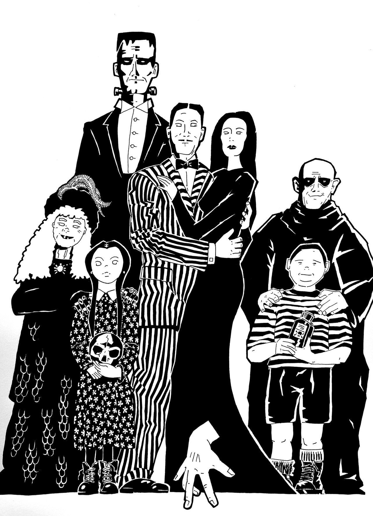 the family systems theory application in the addams family The movie addams family values had the mansion appearing exactly as it did in charles addams's drawing of the family, about to dump boiling oil on a group of carollers from the roof (a gag that was acted out in the opening sequence of the previous film) the first film reveals the mansion to have a.