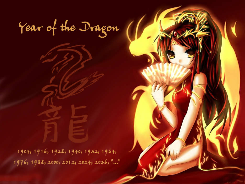 2012 Chinese Dragon Year Wallpapers 1024x768