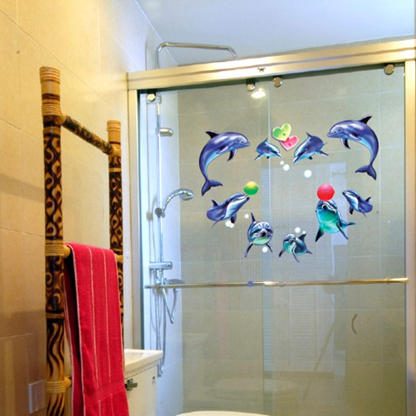 Details about Removable Vinyl Wall Sticker Wallpaper Decal Dolphin 600x600