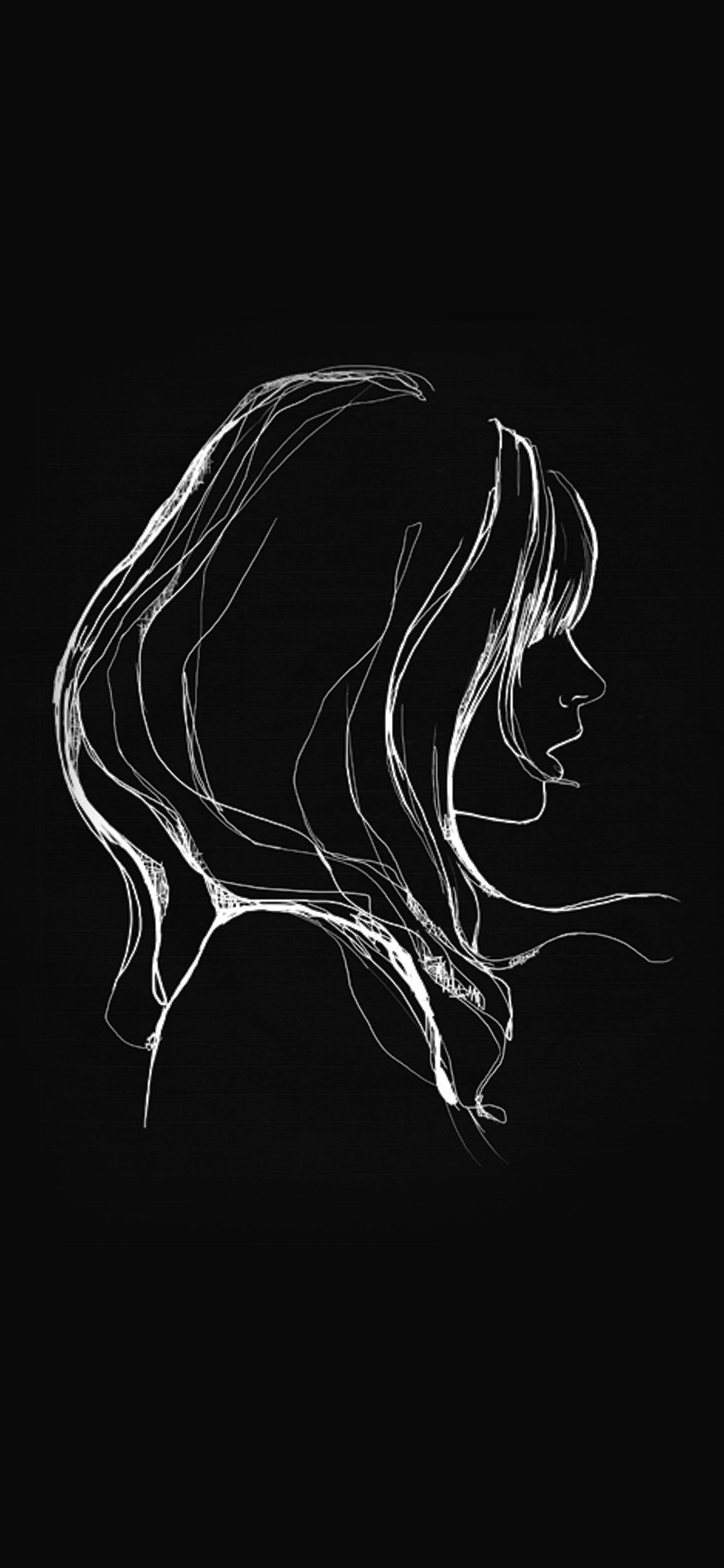 Black Drawing Wallpapers   Top Black Drawing Backgrounds 1125x2436