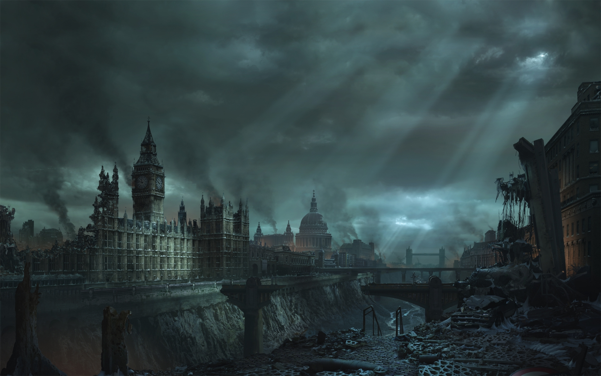 Daily Wallpaper Apocalypse in London I Like To Waste My Time 1920x1200