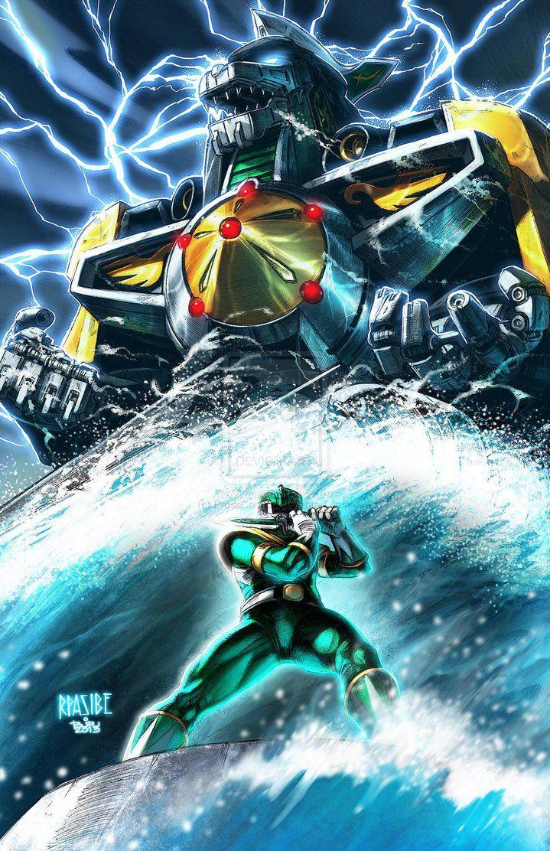 Green Ranger summons The Dragon Zord The Power Rangers Power 719x1112