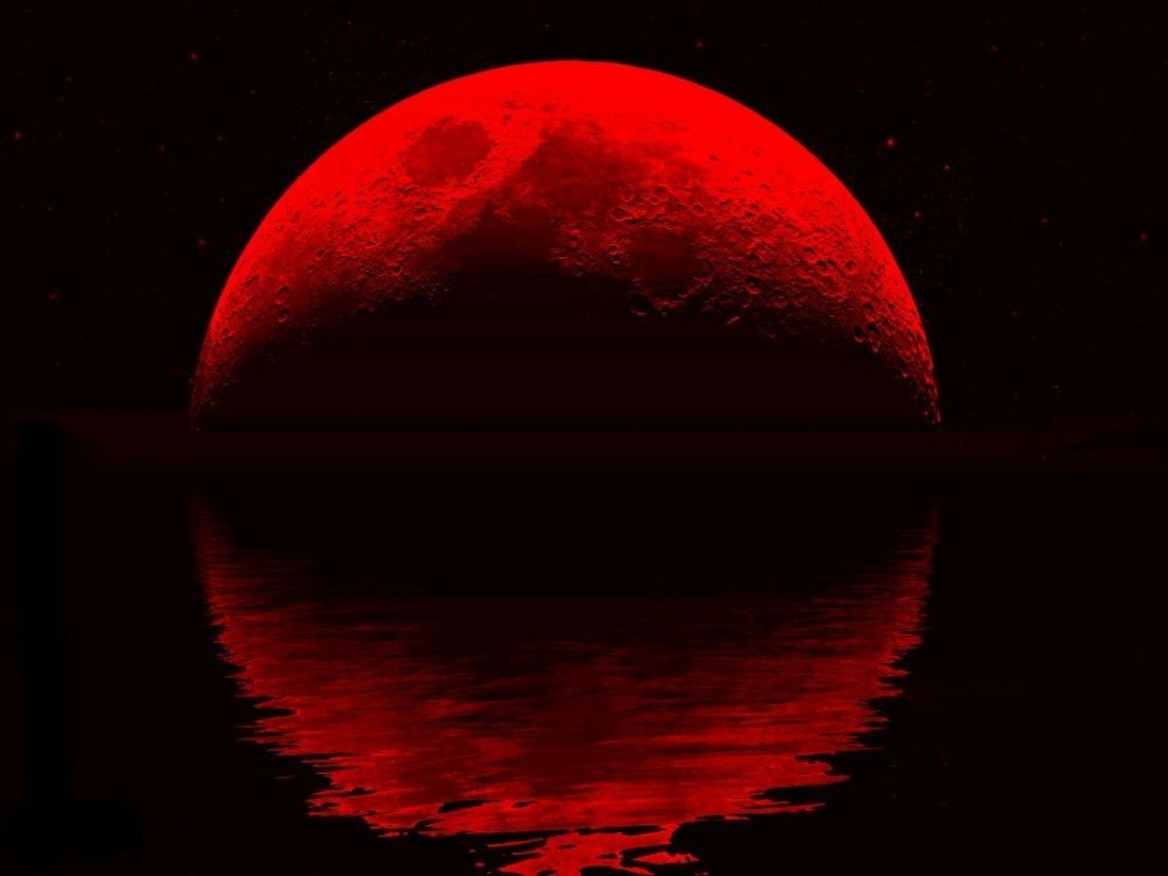 Red Moon Wallpaper: Blood Red Wallpaper