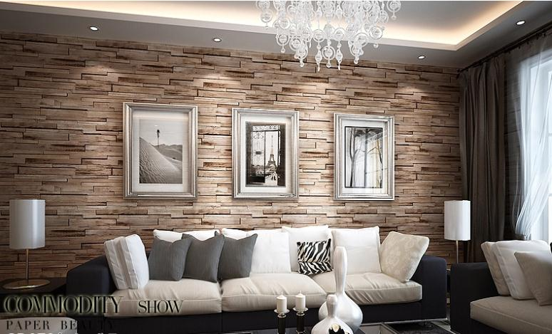 Brick Wall Effect Vinyl 10M Wallpaper Roll Living Room Brown EBay 774x469