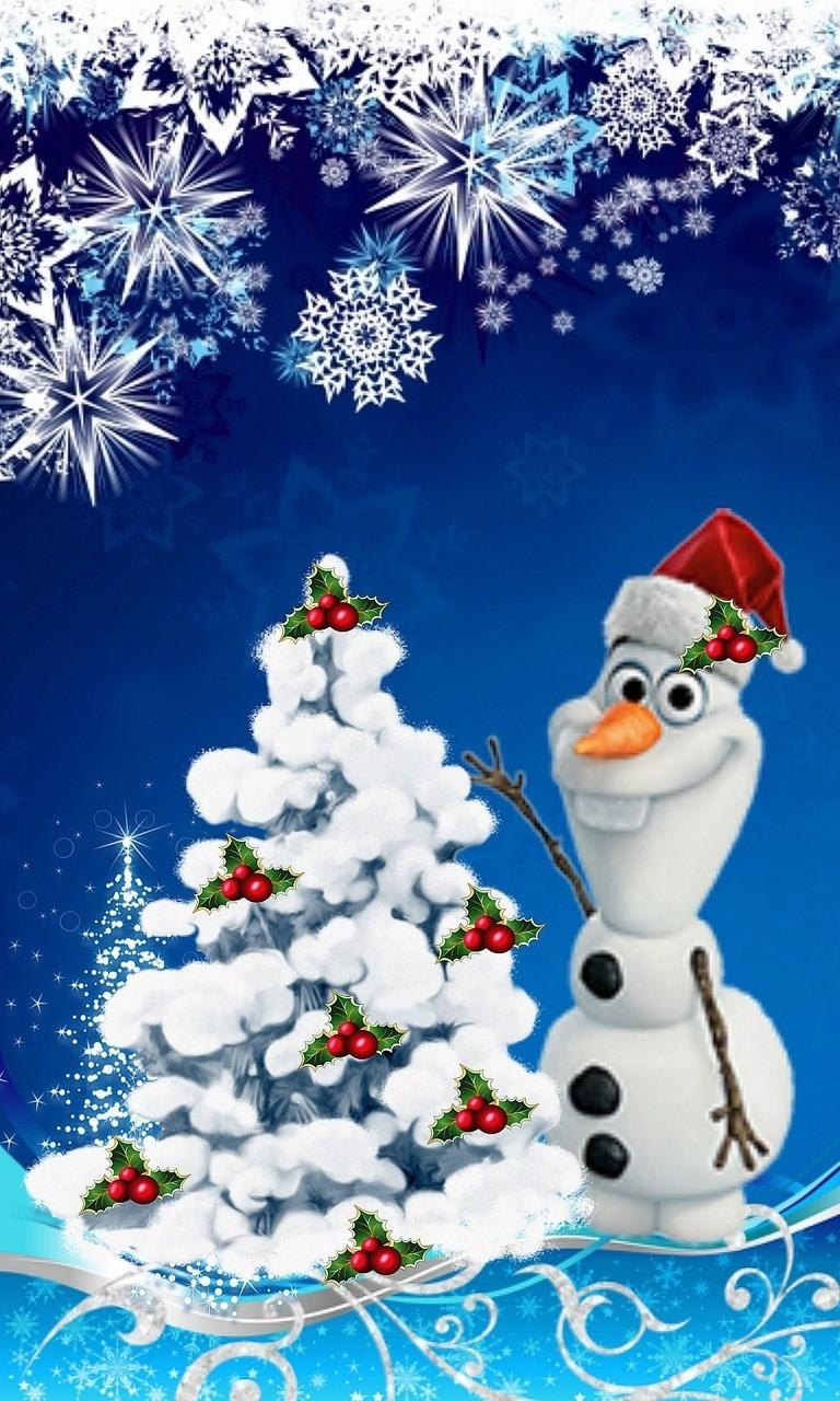 Olaf Happy Christmasjpg phone wallpaper by twifranny 768x1280