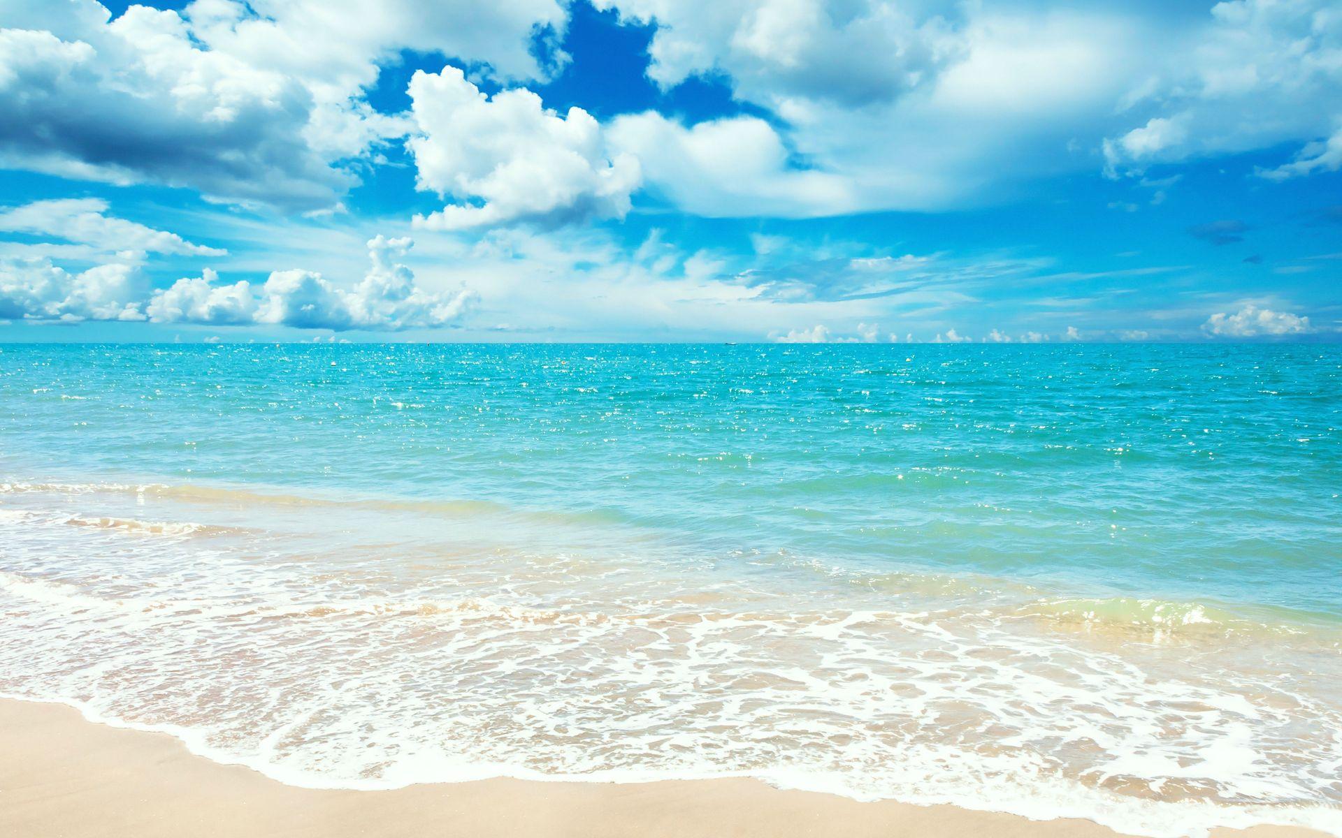 HD Background Wallpaper Blue Beach WallpaperSafari