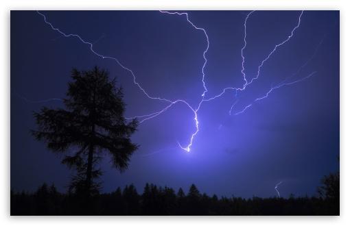 Night Lightning HD desktop wallpaper Widescreen High Definition 510x330