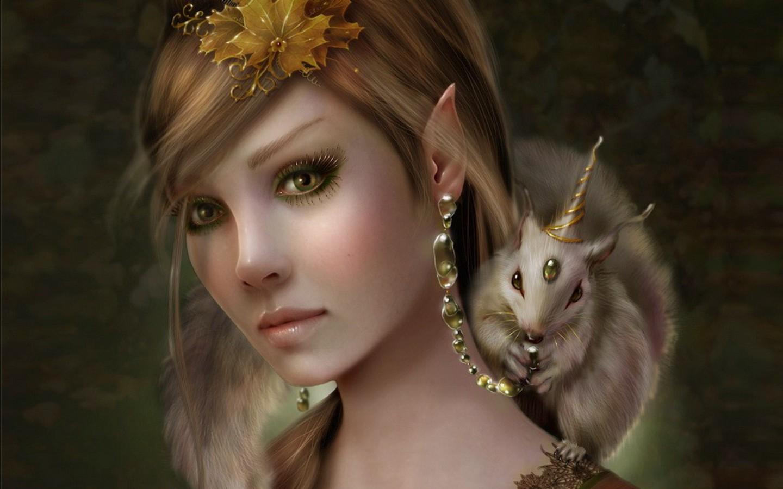 Funny Wallpapers Jokes Fantasy girl Pc desktop HD paintingswallpaper 1440x900