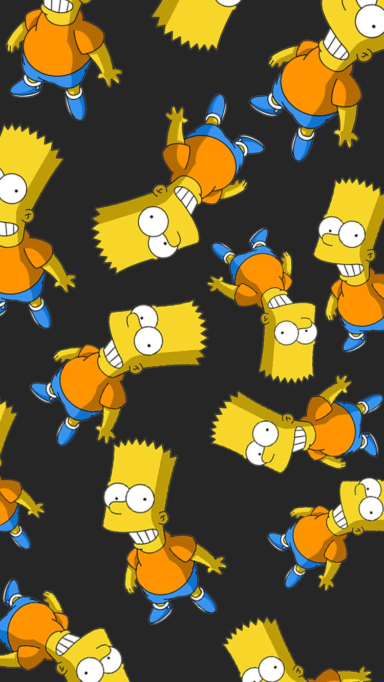 Wallpaper iPhone7 Bart Simpson LIBERTEEN em 2019 Papel de 750x1332