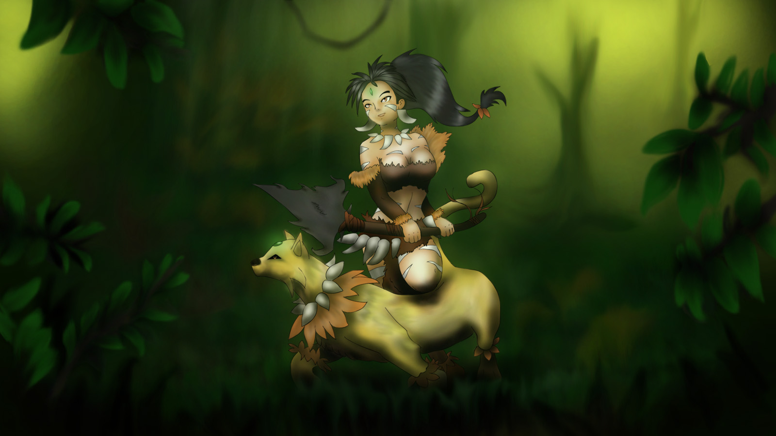 Nidalee Wallpaper by digifields 1600x900
