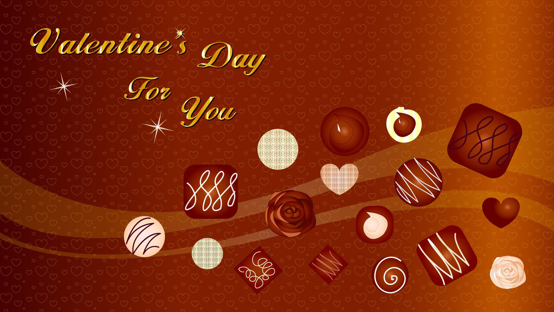 Floating chocolates at Valentines Day wallpaper 41304 1920x1080