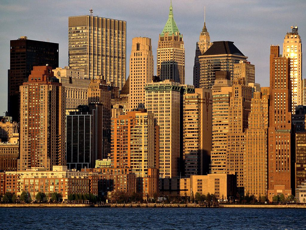 Wallpapers Clubs New York City Buildings View From River Wallpaper 1024x768