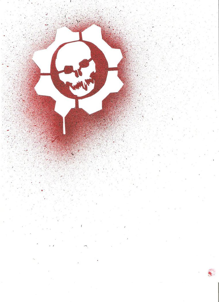 Gears of war crimson omen stencil by littlecharly 762x1048