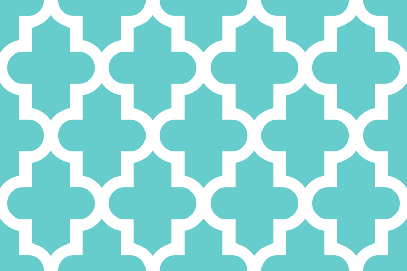 Turquoise and white wallpaper wallpapersafari for Moroccan style wallpaper