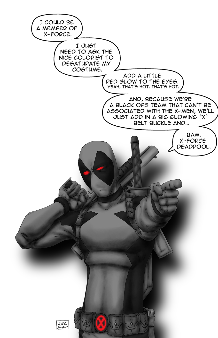 Force Deadpool by JamesLynch 900x1391