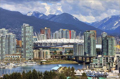 Pin Vancouver Bc Skyline Skies Buildings Water Hd Wallpaper on 500x329