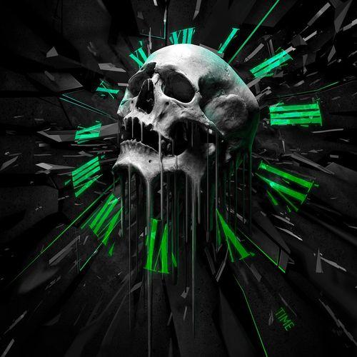 HD Time Skull Wallpaper 500x500