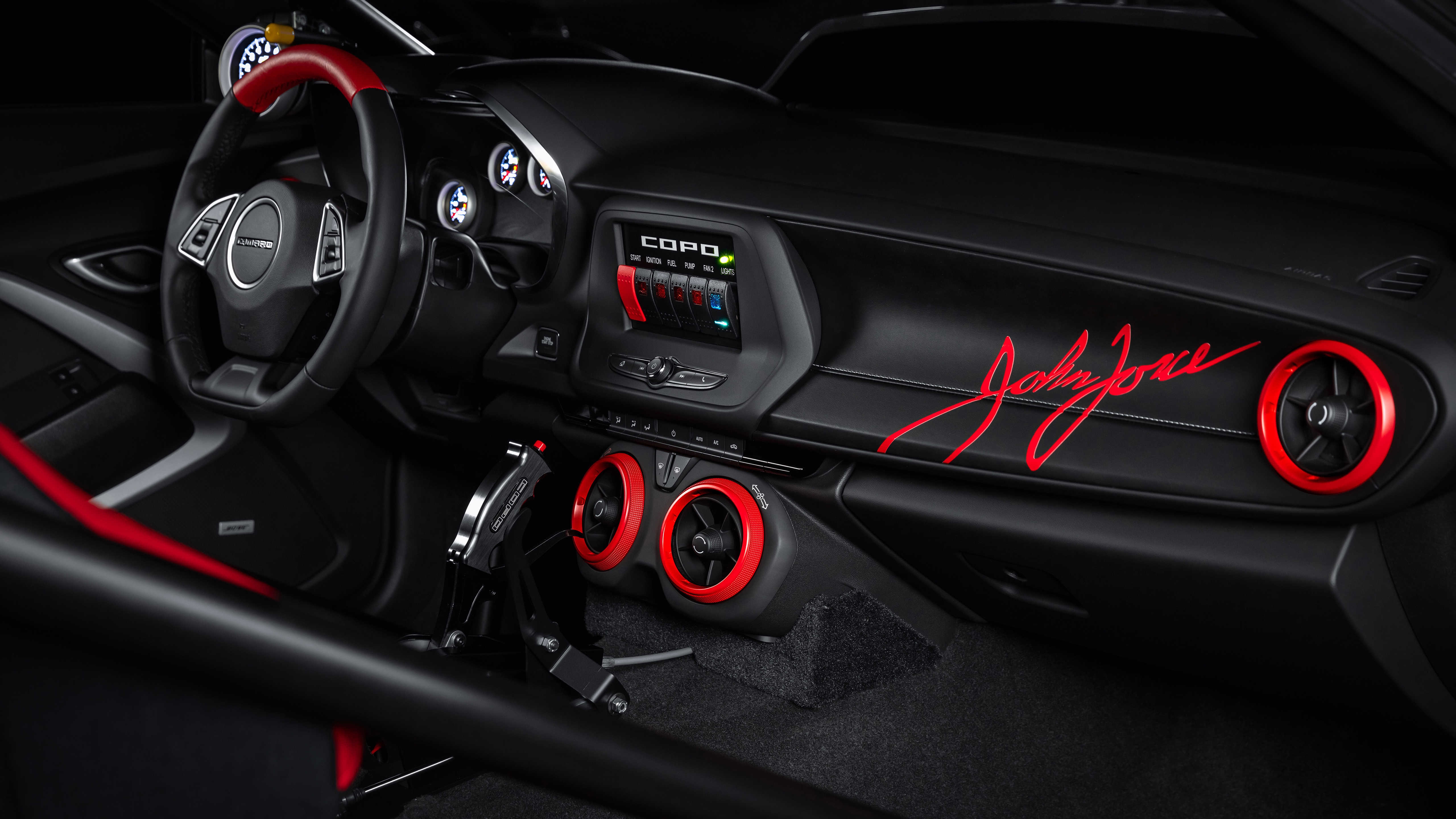 2020 Chevrolet COPO Camaro John Force Edition 4K Interior 5120x2880