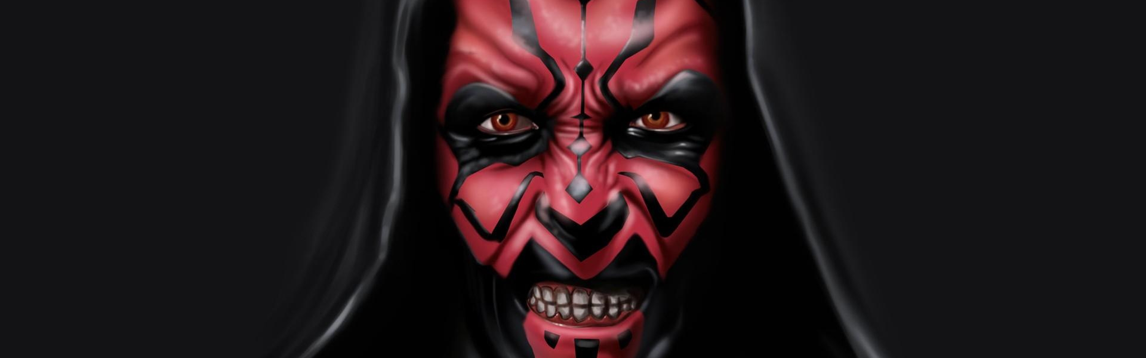 Download Wallpaper 3840x1200 sith star wars darth maul dark side 3840x1200