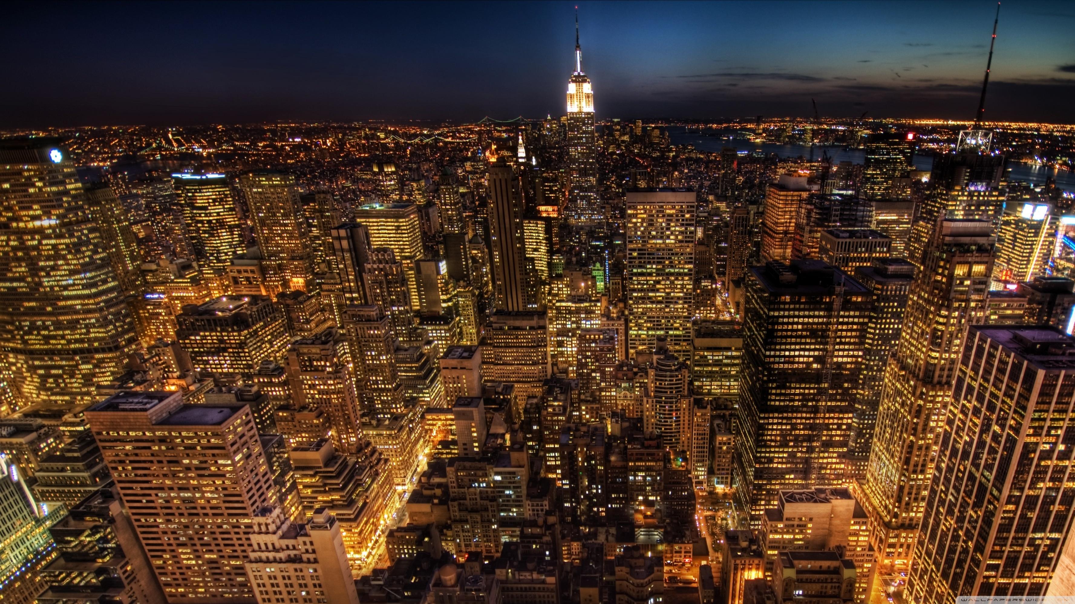 Manhattan HD Wallpaper Background Images 3554x1999