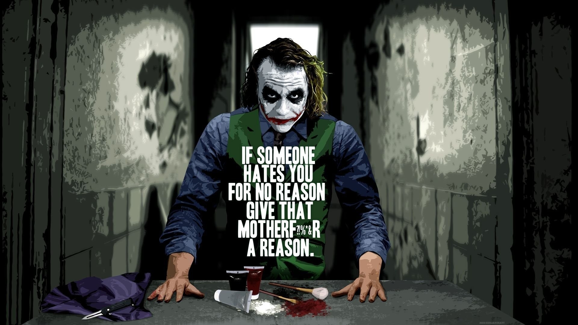 Inspirational Quotes Joker Quotes Wallpaper Hd 1920x1080