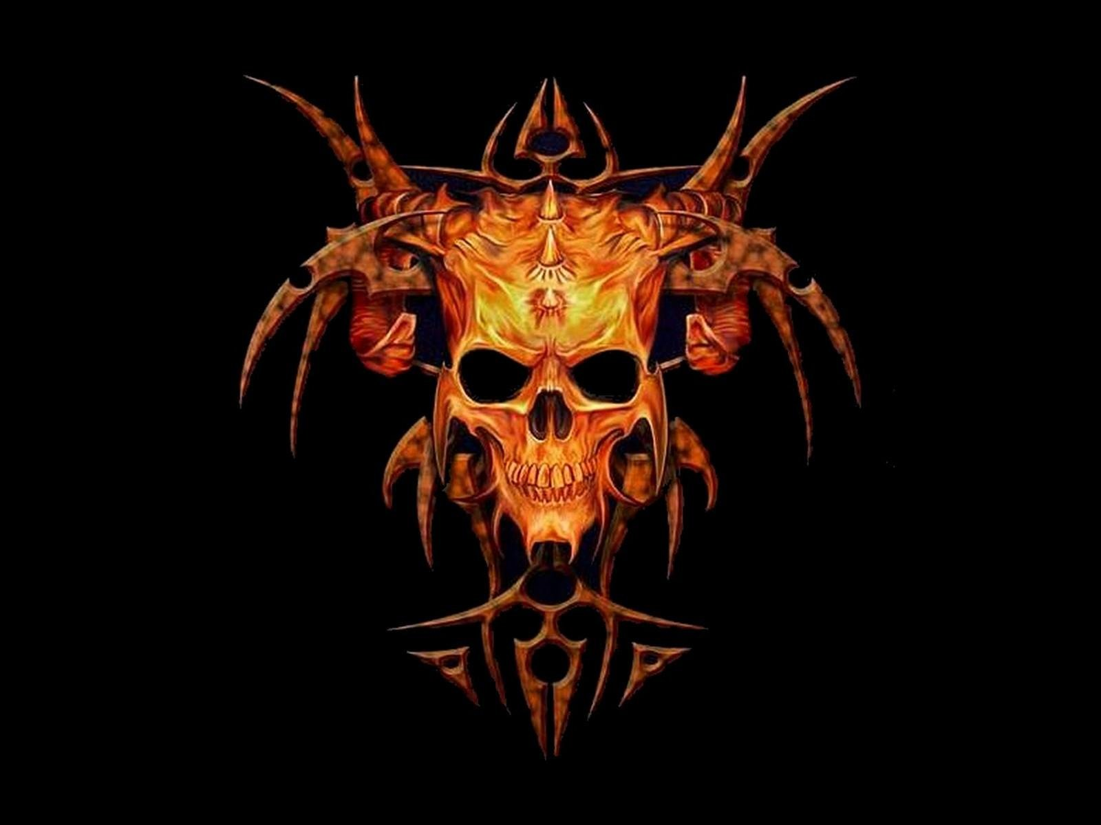 free skull wallpapers for desktop wallpapersafari