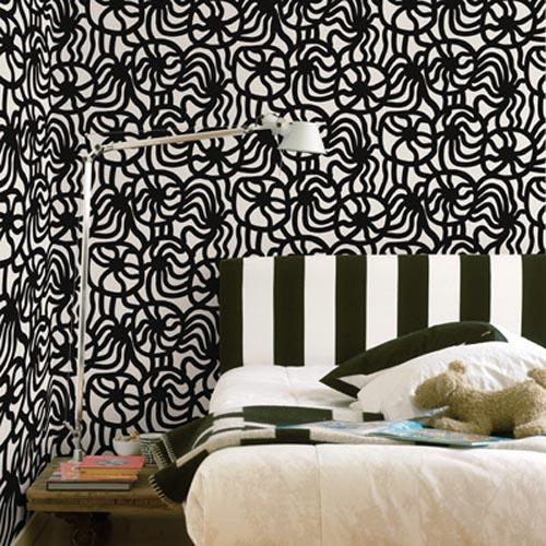 Comfortable Bedroom Modern Wallpaper Design wallpaper design photos 500x500