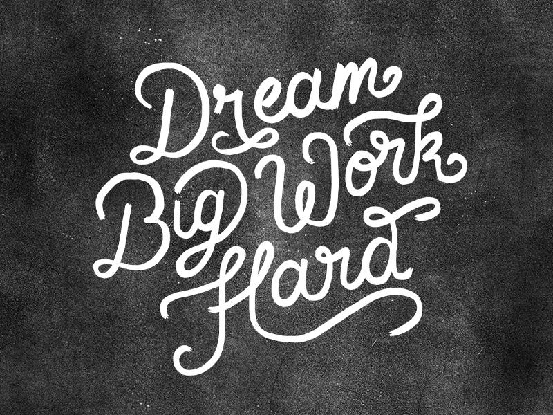 Dream Big Work Hard Wallpaper 800x600