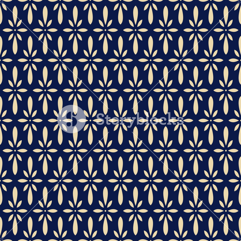 Seamless background retro navy blue Japanese flower chintz Royalty 1000x1000
