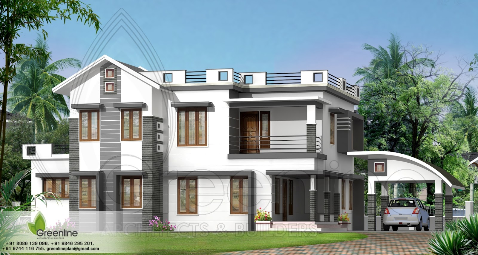 3d wallpaper for home wallpapersafari - Exterior designs of houses in india ...