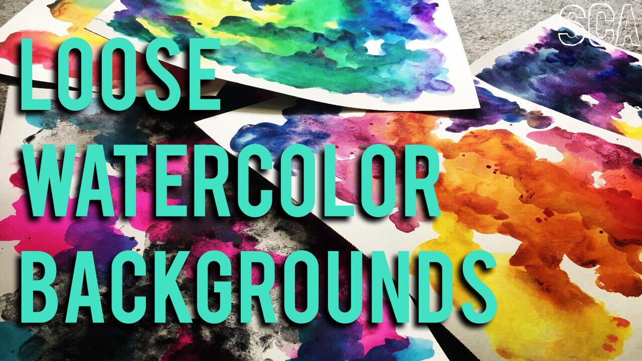 Loose Watercolor Background Techniques Tips 1280x720