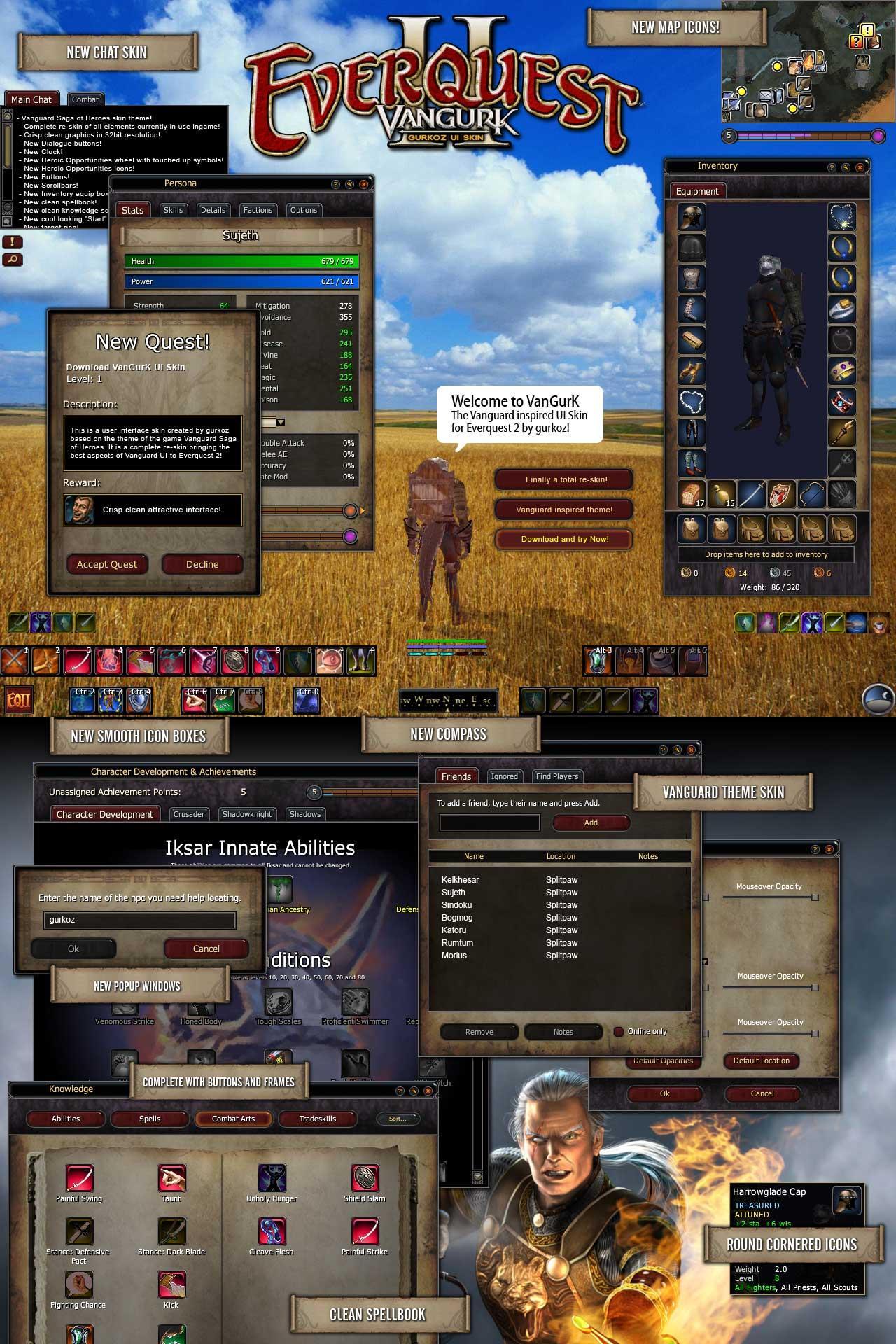 EQ2Interface VanGurK   Vanguard ui skin for Everquest 2 by 1280x1920