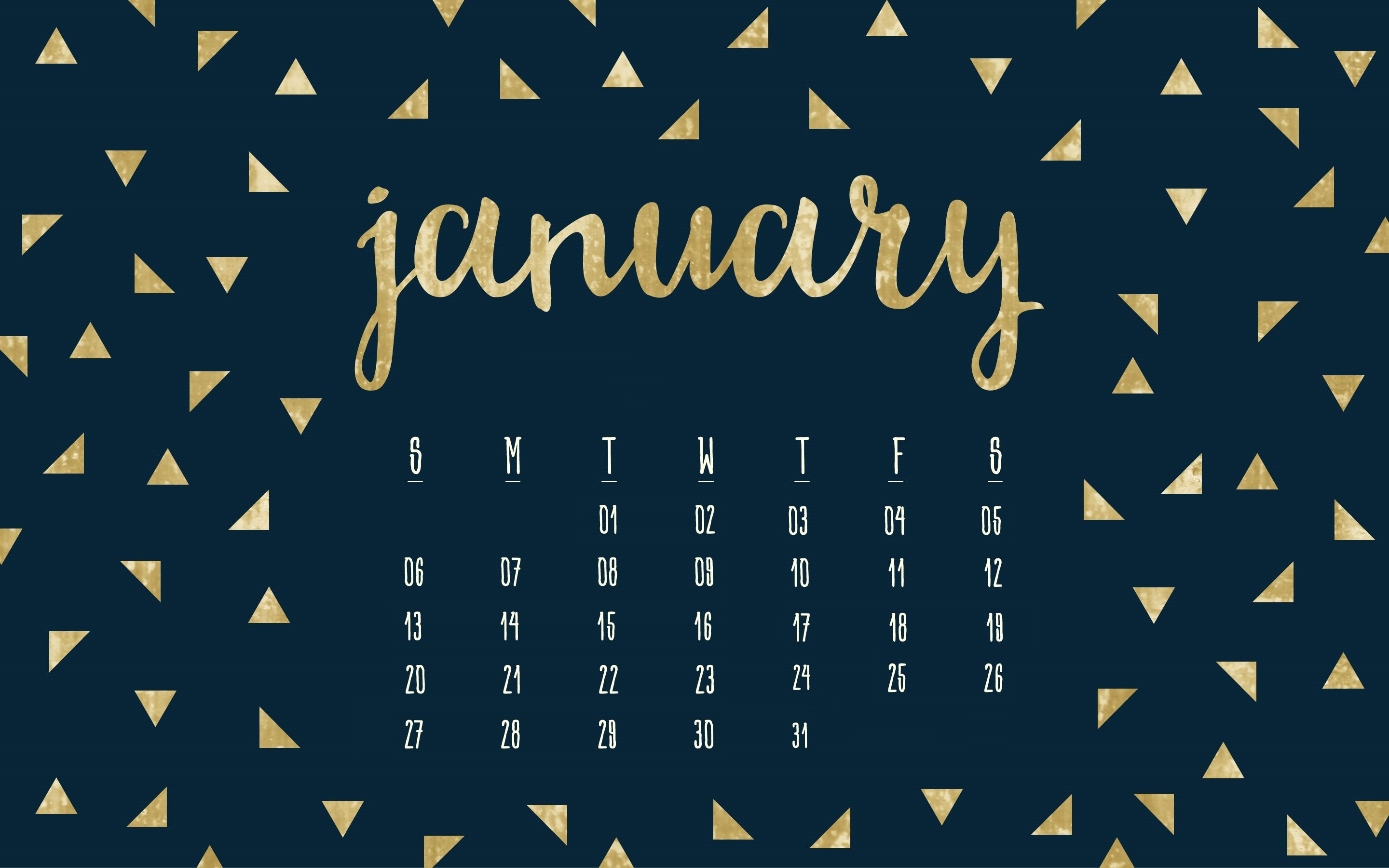2880x1800px January 2019 Calendar Wallpapers 2880x1800